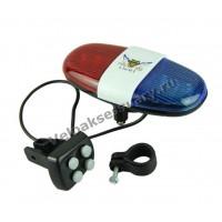 Электронный велосипедный звонок полицейский маячок