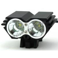 """Велосипедная фара """"Сова"""" Черная 2x CREE XM-L Т6 LED 2800 Lm"""