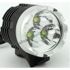 Велосипедная фара 3x CREE XM-L T6 LED 3800 Lumen