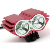 "Велосипедная фара ""Сова"" Красная 2x CREE XM-L Т6 LED 2800 Lm"