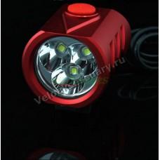 Велосипедная фара 3х CREE XM-L Т6 LED 4000 Lm