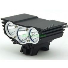 Велосипедная фара 3x CREE XM-L U2 LED 5000 Lm