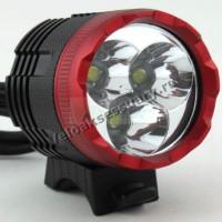 Велосипедная фара 3x CREE XM-L T6 LED