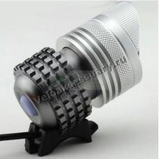 Велосипедная фара 3 CREE XM-L T6 LED Zoom Silver