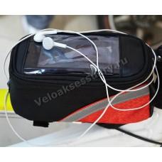 Велосипедная сумка Pannier с отсеком для телефона